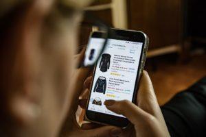 online shop on phone