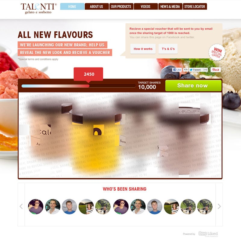 Image Reveal Promotion with Talenti Gelato