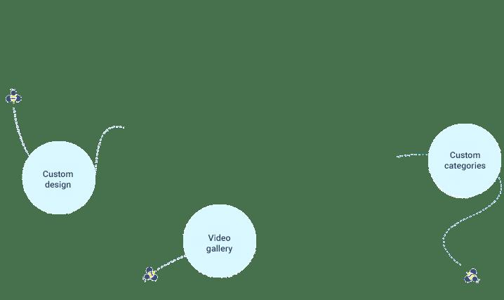 Video Contest Features bubbles