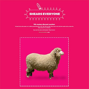 Digital Scratch Card example with sheep design