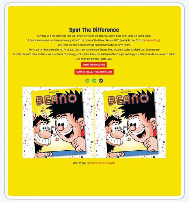 Spot the Difference Campaign designs