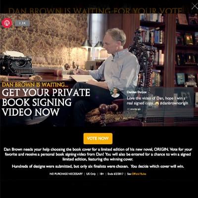 Dan Brown Origin Personalized Video Book Signing Promotion