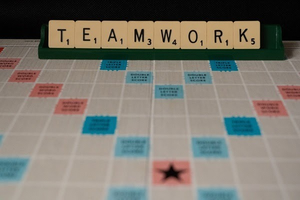 abstract scrabble board