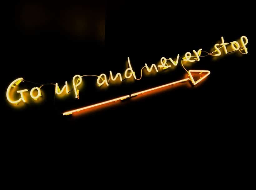 go up and never stop slogan